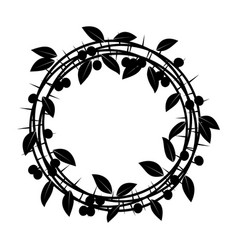 blackthorn berries branches and leaves frame vector image
