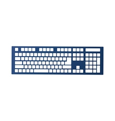 A keyboard is placed vector