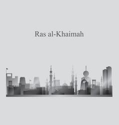 Ras al-khaimah city skyline silhouette in vector