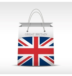Shopping bag with british flag vector