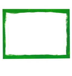 Green grunge frame vector
