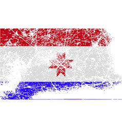 Flag of mordovia with old texture vector
