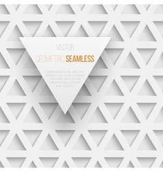 Abstract seamless geometric triangle pattern with vector