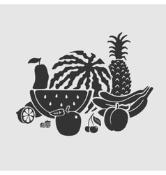 Symbol set fruit vector