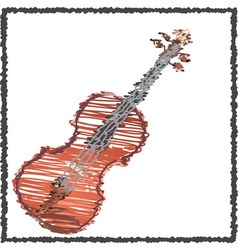 Scribble violin vector