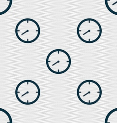 Timer sign icon stopwatch symbol seamless abstract vector