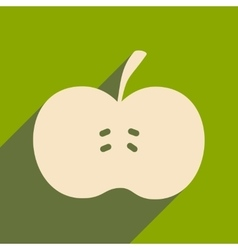 Flat with shadow icon and mobile applacation apple vector