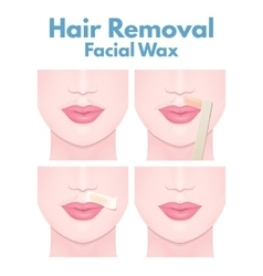 Hair removal wax vector