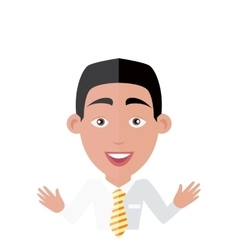 Emotion avatar man happy success vector