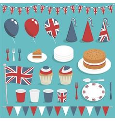 british party set vector image