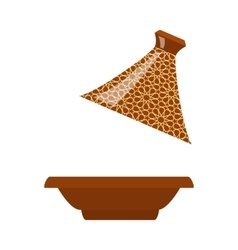 Moroccan tajine isolated vector image