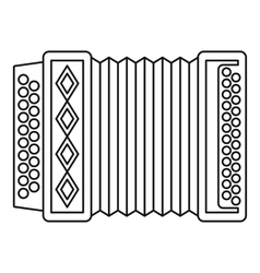 Accordion icon outline style vector image