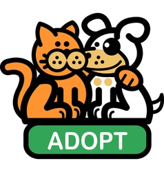 Adopt a pet vector image vector image