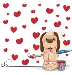 Artist dog vector