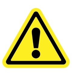 Attention sign on white background vector