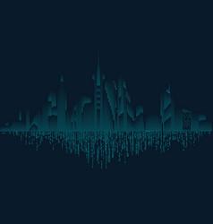 binary city vector image