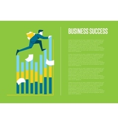 Business success banner with businessman vector image