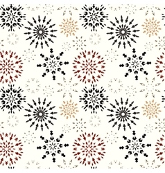 Christmas seamless pattern Brown and orange vector image