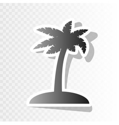 Coconut palm tree sign new year blackish vector