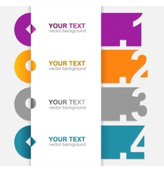 Colorful text boxes 1 2 3 4 vector
