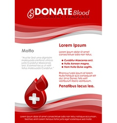 Donate blood document template vector image