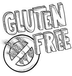 Doodle gluten free vector