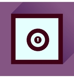 Flat icon with long shadow safe economy vector