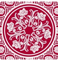 Floral seamless background with a mandala in the vector image