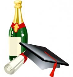 Graduation illustration vector