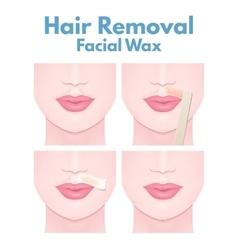 Hair removal wax vector