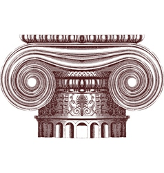 ionic column vector image vector image
