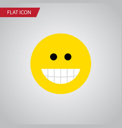 Isolated laugh flat icon grin element can vector