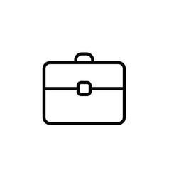 line briefcase portfolio icon on white background vector image vector image
