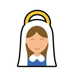 Maria icon merry christmas design graphic vector