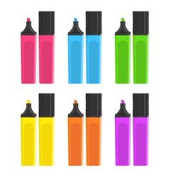 Marker pens set vector