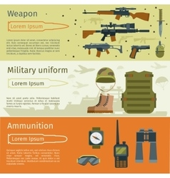 Military banners or army backgrounds set vector