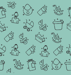 motherhood icons pattern vector image vector image