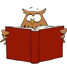 owl with book vector image vector image