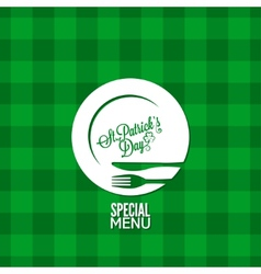 Patrick day party holiday menu design background vector