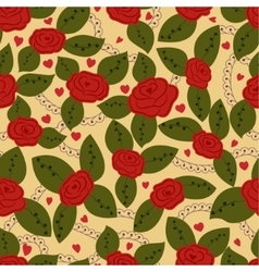 Roses retro seamless pattern vector image vector image