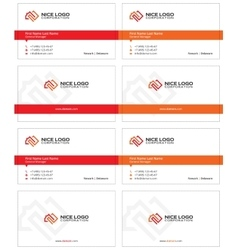 Square meter business card 1 vector