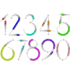 syringe numbers vector image vector image