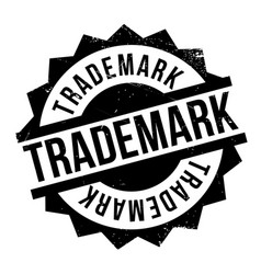 trademark rubber stamp vector image vector image