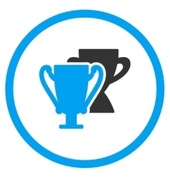 Trophy cups icon vector