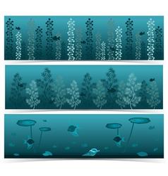 Underwater scenes vector