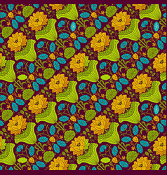 various colors flower seamless pattern background vector image vector image