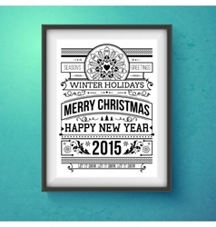 Vintage christmas design realistic frame on the vector