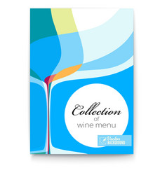 wine list design template for bar or restaurants vector image