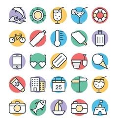 Summer Cool Icons 3 vector image