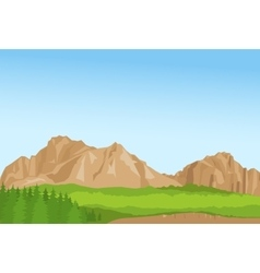 Wallpaper with summer mountains and florest vector